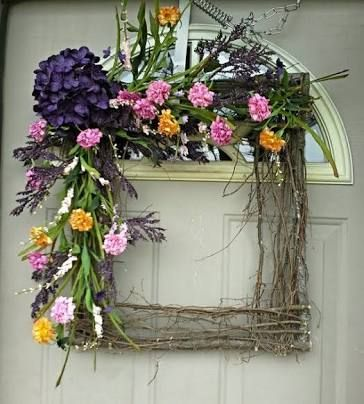 Beautiful Square Wreath Gorgeous For Year Round By Front Door Decor On Shopify