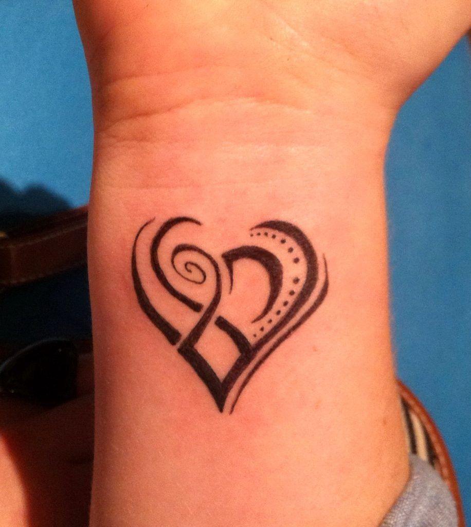 Tribal Love Tattoo Designs Wrist Small Tribal Tattoos Tribal Heart Tattoos Wrist Tattoos For Women