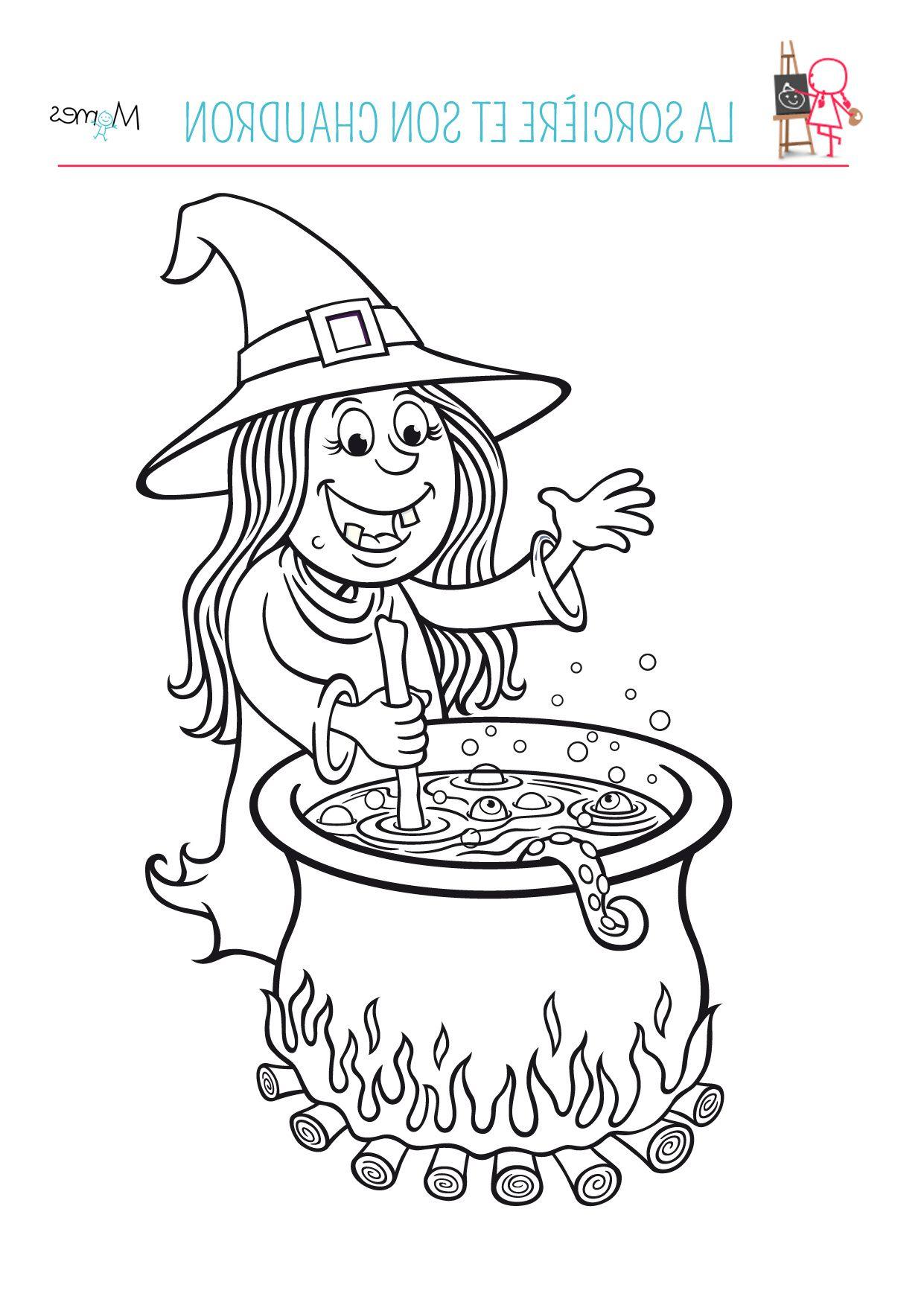 10 Authentique Coloriage sorcière Collection (avec images
