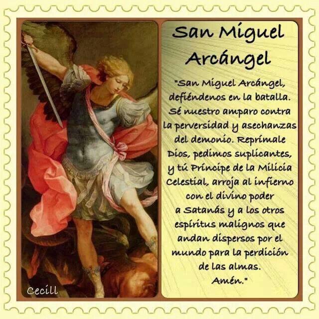 San Miguel Arcángel Oracion De San Miguel San Miguel Arcangel Oracion Arcangel Miguel
