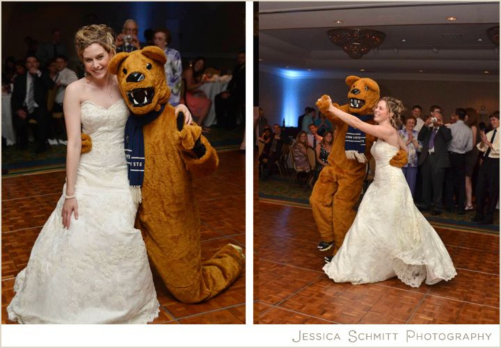 The Penn State Nittany Lion Dances With Bride At Her Wedding