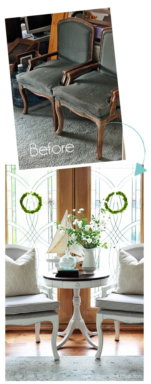 Paint Furniture · How To Upholster A French Provincial Chair From  Confessionsofaserialdiyer.com