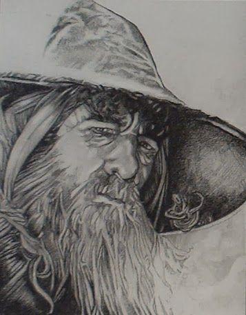 10 Cool Hobbit Fan Art Creations Gandalf Pencil Sketch
