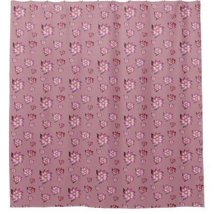 Dusty Rose Flowered Shower Curtain Zazzle Com Flower Shower