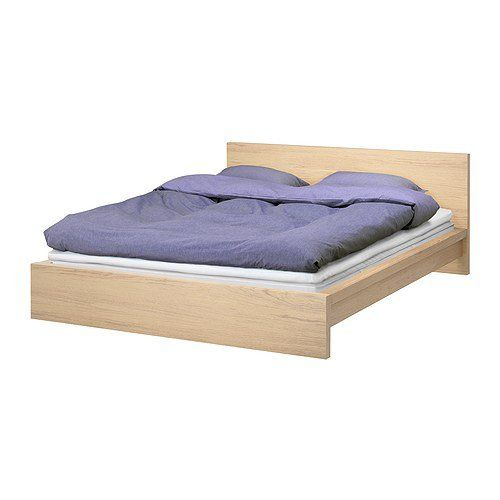 Ikea Malm Queen Bed Frame In White Oak Veneer Malm Bed Frame