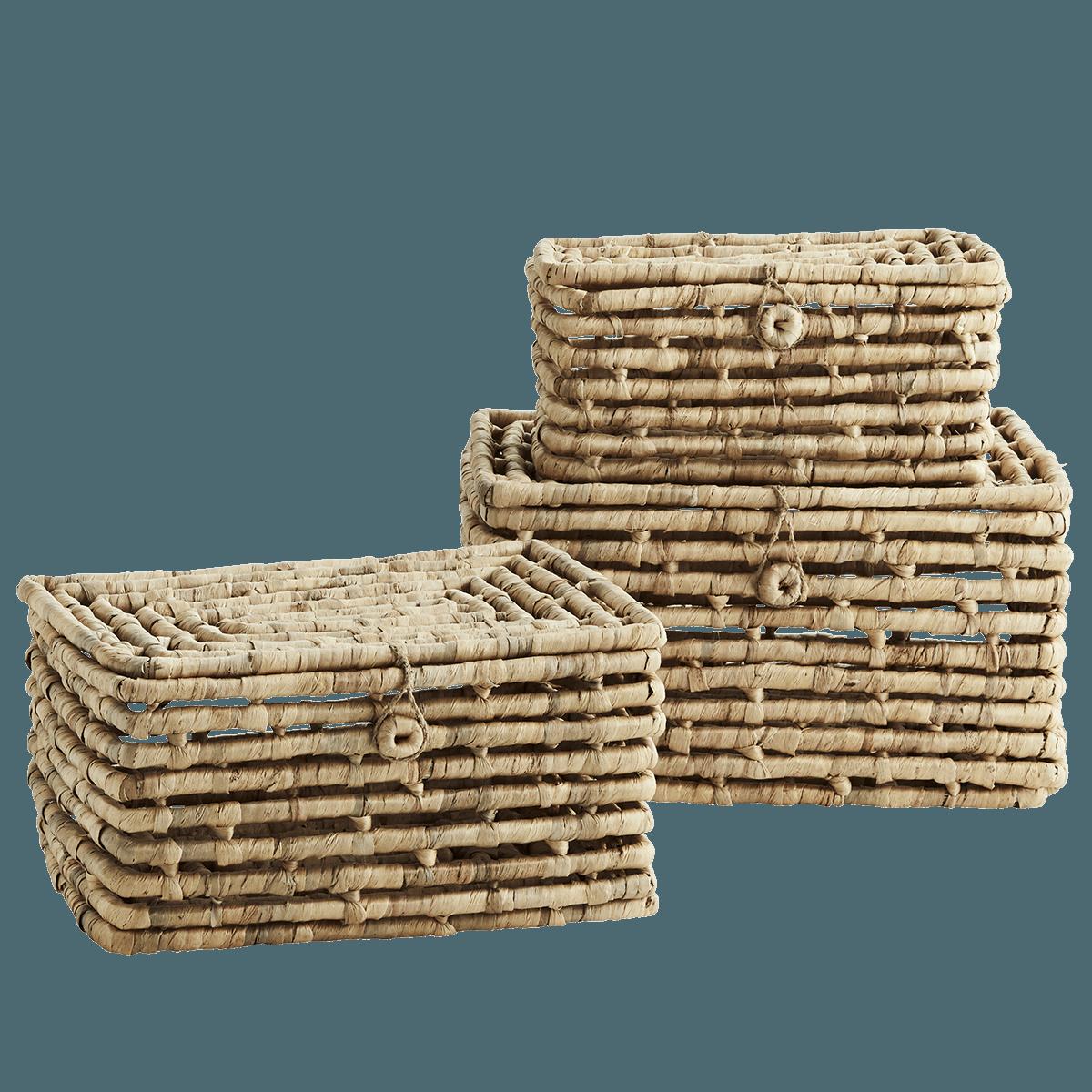 3er Set Kisten Mit Deckel Mehrfarbig Aus Seegras Fur 141 99 Nbsp Euro Dieses Set Aus Seegraskastchen Passt Nicht Nur Ins Badezimmer In 2020 Deckel Kisten Kasten