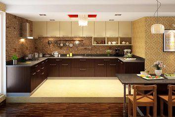 Alleppy U Shaped Modular Kitchen Ebony U0026 Arizona Walnut Part 36