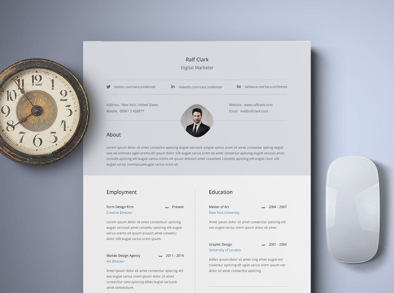 Free Classy Resume Template Freebies Pinterest Template And