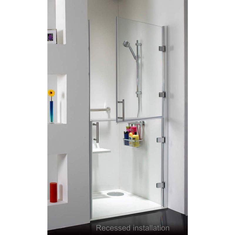 Clever accessable shower solution, with split door design. Phoenix ...