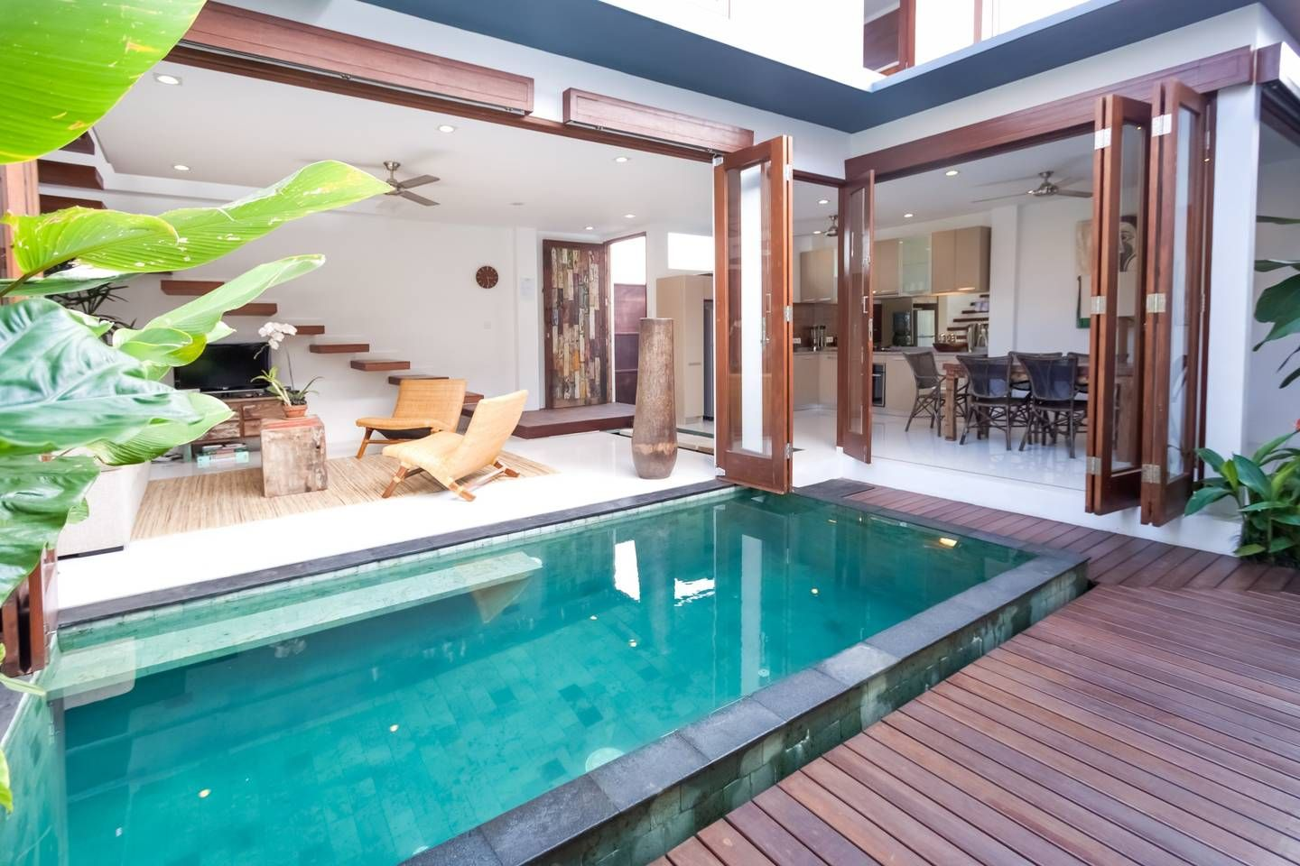 The Villa Entertaining Area Pool Houses Bali House Pool Designs