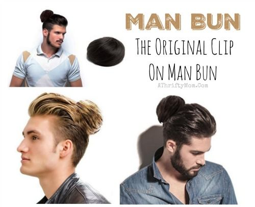 This is so funny and would be a great gag gift man bun gag gift man bun the original clip on man bun gag gift or white elephant gift idea a thrifty mom recipes crafts diy and solutioingenieria Choice Image