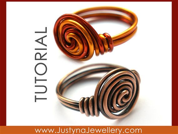 Spiral Ring Tutorial Rosette Ring Tutorial by JustynaJewellery ...
