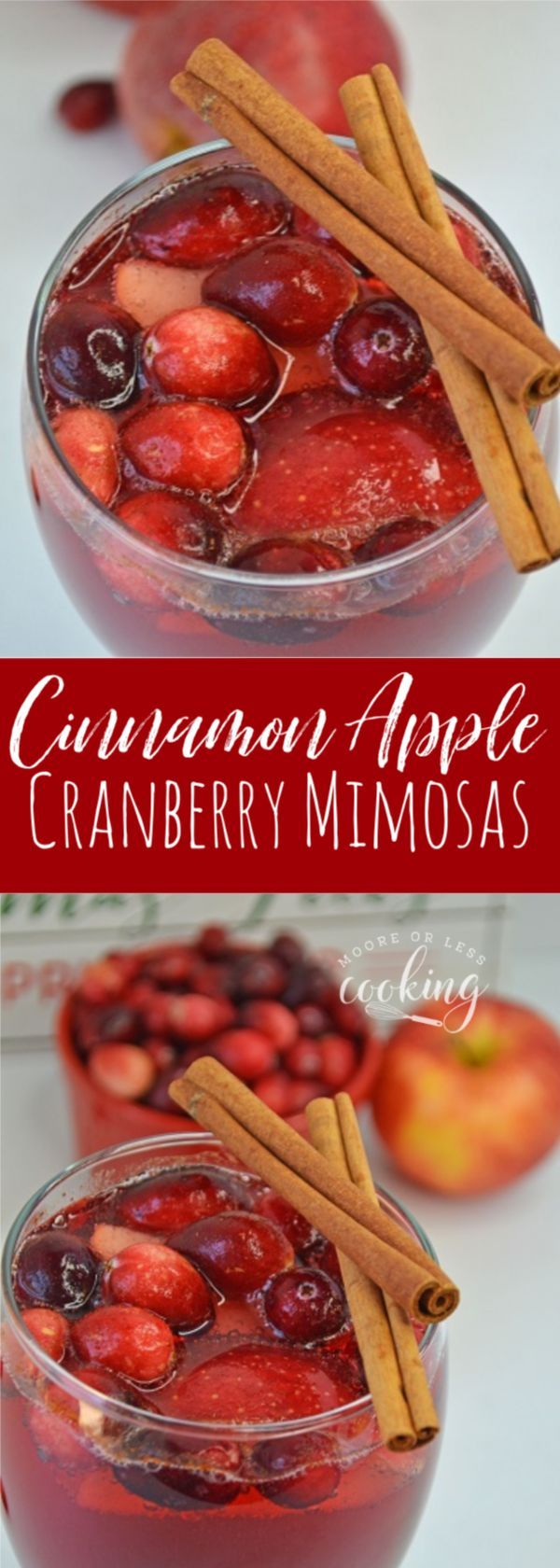 A crisp, festive and fun to drink fall cocktail for the holidays or any day with fresh cranberries and apple.