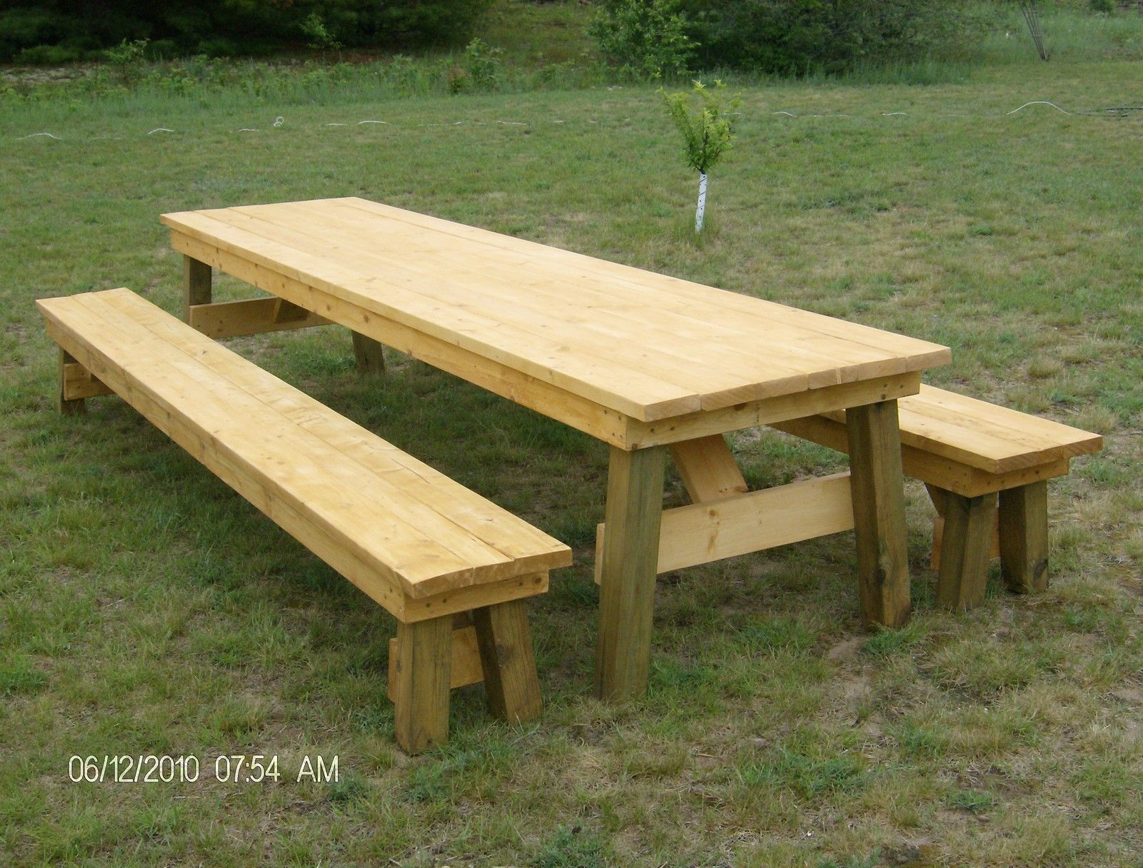 Delightful Picnic Bench Ideas Part - 1: Classic Picnic Table With Separate Benches Plan-How To Build It Yourself!  In Home U0026 Garden, Home Improvement, Building U0026 Hardware