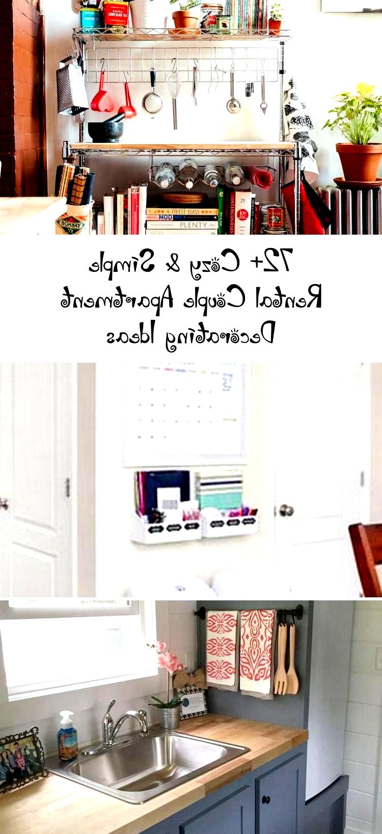 72+ Cozy & Simple Rental Couple Apartment Decorating Ideas #apartment #apartment...