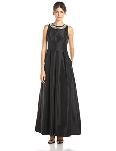 0a8be6c6866 Sangria Womens Pearl Necklace Detail Ball Gown Dress black 14 -- Continue  to the product at the image link-affiliate link.