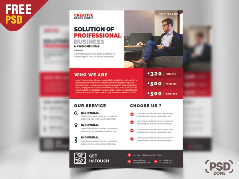 Business Promotion Flyer Psd Template Free File Freebie Psd