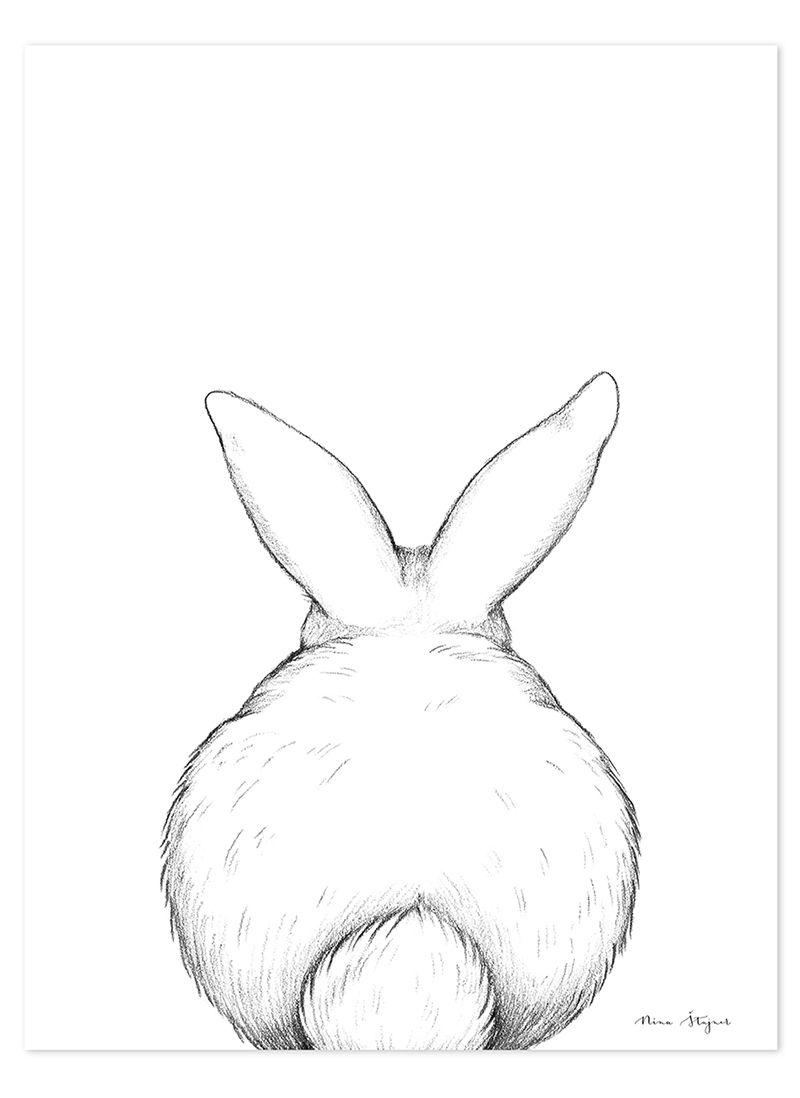 Lilipinso Kinderzimmer Poster Hase Schwarz Weiss 30x40cm Bei Fantasyroom Online Kaufen Haschen Kunst Kaninchen Illustration Kaninchen Kunst