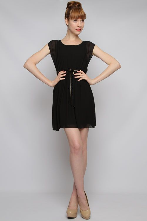 Black chiffon dress h&m