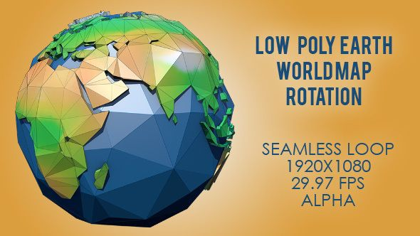 Low poly planet earth world map rotating color gumiabroncs Images