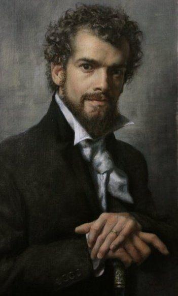 Cesar Santos - Self portrait, 1982 - Cuban-born American Figurative painter