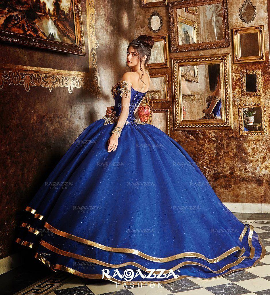 Ragazza Collection V90 390 Quinceanera Dresses Blue Sweet 15 Dresses Navy Blue Quinceanera Dresses [ 1024 x 939 Pixel ]