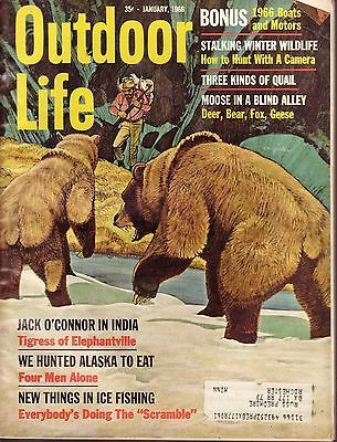 Jan 1966 Outdoor Life Jack O'Connor in India 3 Diff Quail