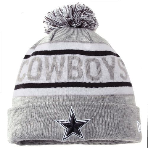 Dallas Cowboys New Era Biggest Fan Redux Cuffed Knit Hat With Pom - Gray