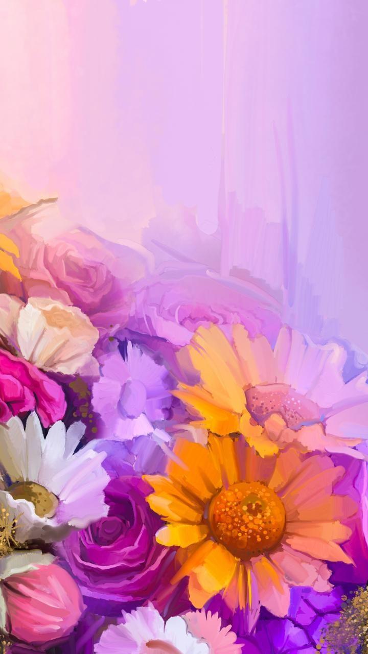 720x1280 wallpaper Flowers, colorful, artwork, water color ...