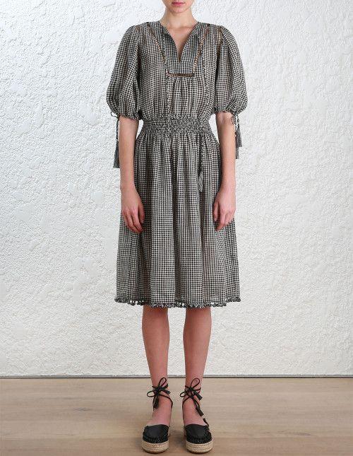 fd077e3fd56 Zimmermann Paradiso Gingham Day Dress . Model Image.