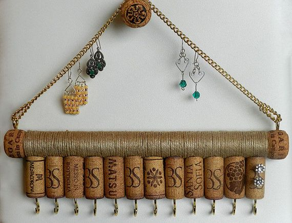 Wine Cork Jewelry Holder Key Holder Jewelry Holder Jewellery Storage Jewellery Organiser Necklace Holder Wine Cork Jewelry Cork Jewelry Jewellery Storage