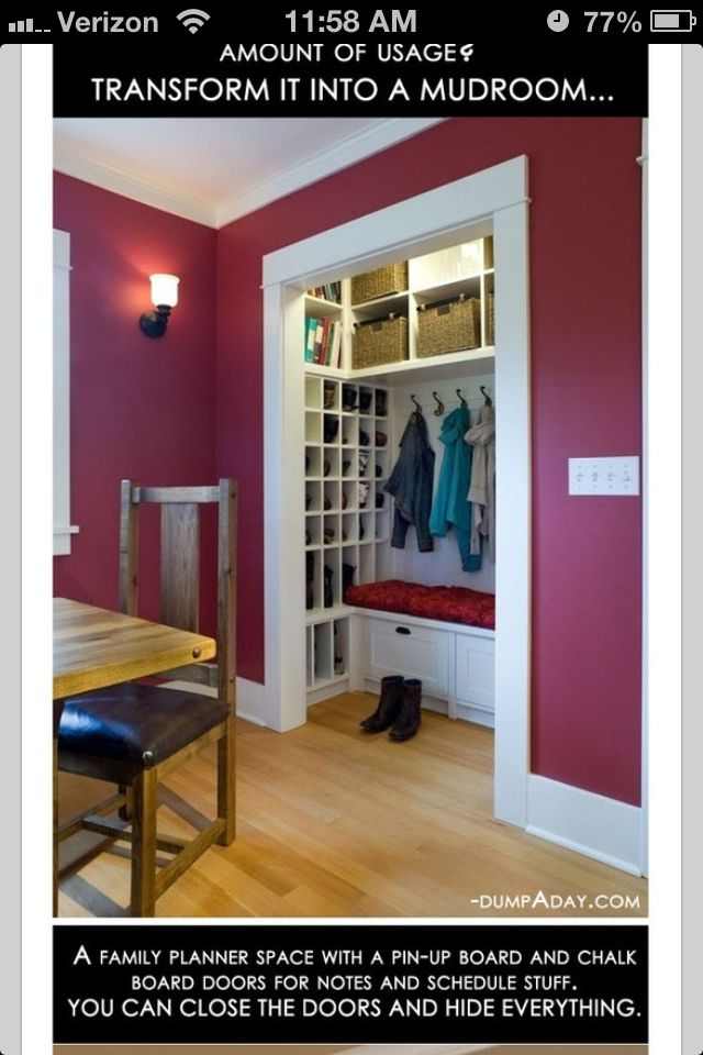 Small Front Door Closet Love This Home Decor