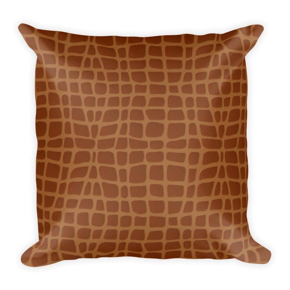 Alligator Print Pillow