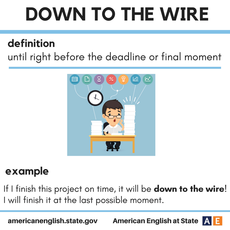 Expression: Down to the wire | ESL | Pinterest | English, English ...