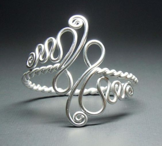 Cool wire wrapped bracelet. Craft ideas from LC.Pandahall.com | Bracelets & Bangles 2 | Pinterest by Jersica