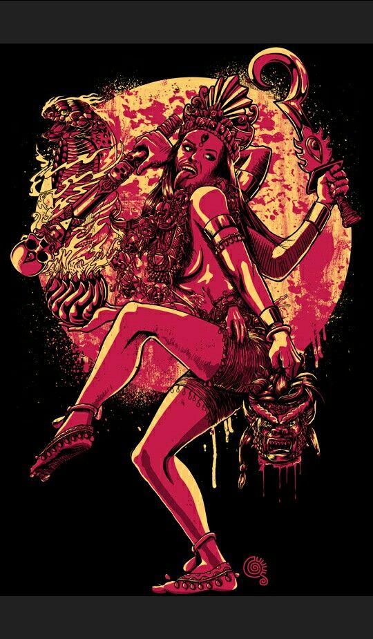 Goddess Kali Diosa Kali Arte De La Diosa Deidades Hindues
