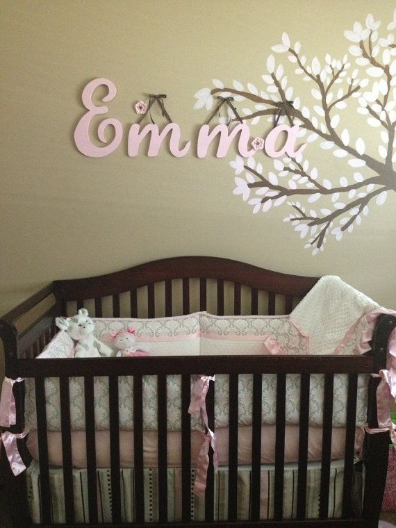 custom wood name wall hanging individual letters 4 letters personalize childrens rooms