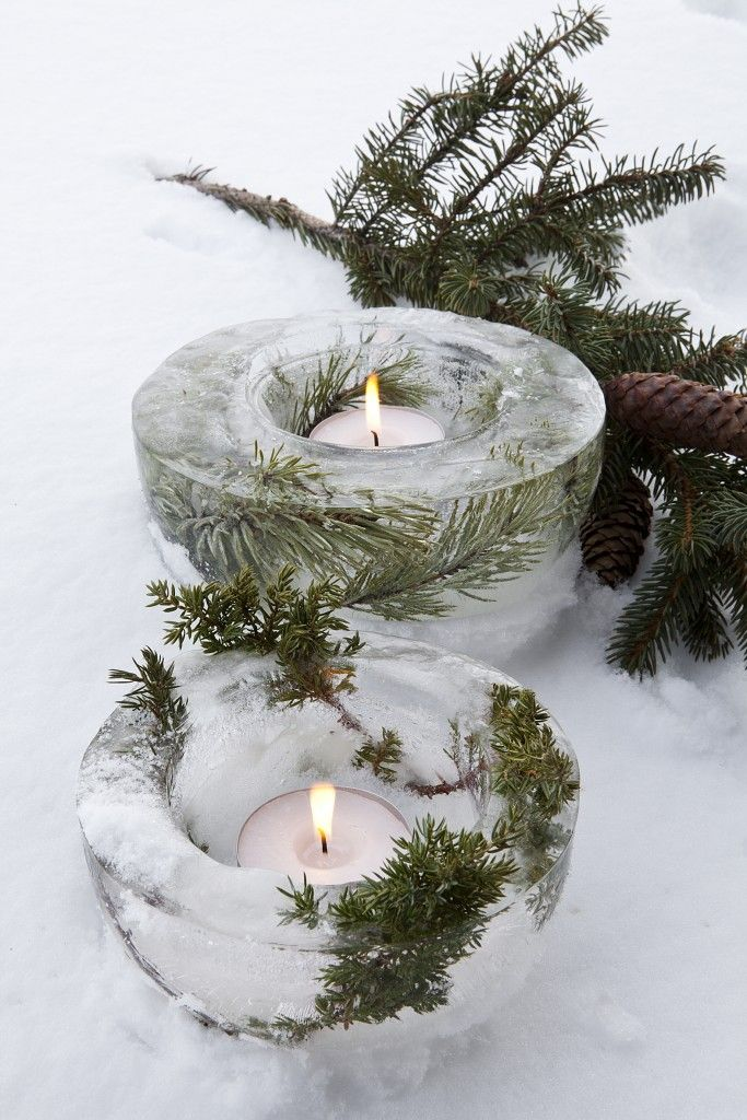 Une Decoration De Noel Inspiree De La Nature Christmas Pinterest