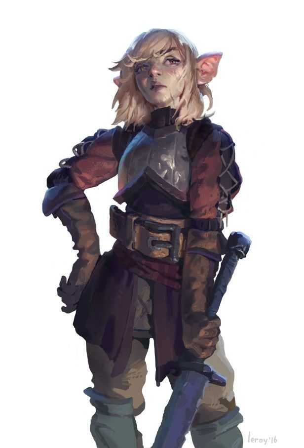 99 D&D Female Character Art Pieces (no boobplate or stab-friendly midriffs)
