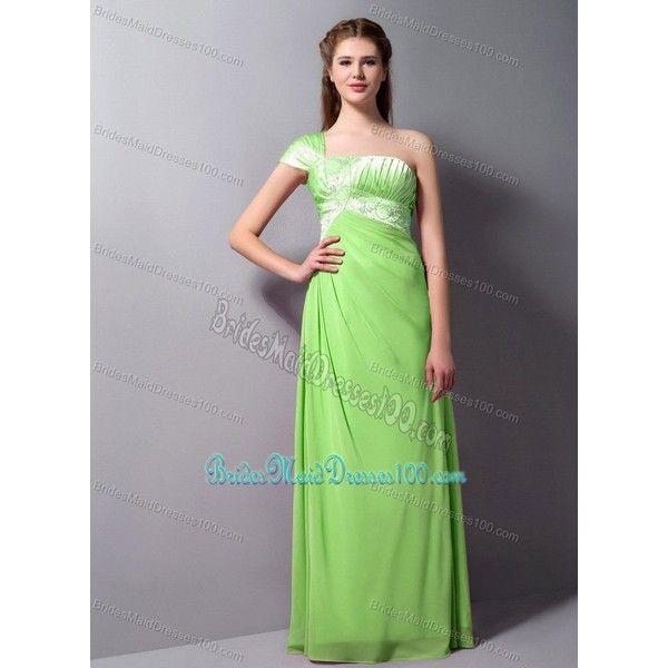 spring green floor length dresses