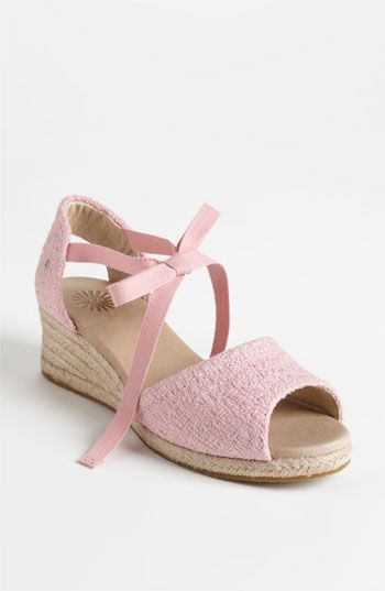 1b44f82721cc UGG® Australia  Delmar  Sandal A chunky cotton weave charms an easy  ankle-tie sandal with heirloom appeal. Equally sweet with shorts and  skirts