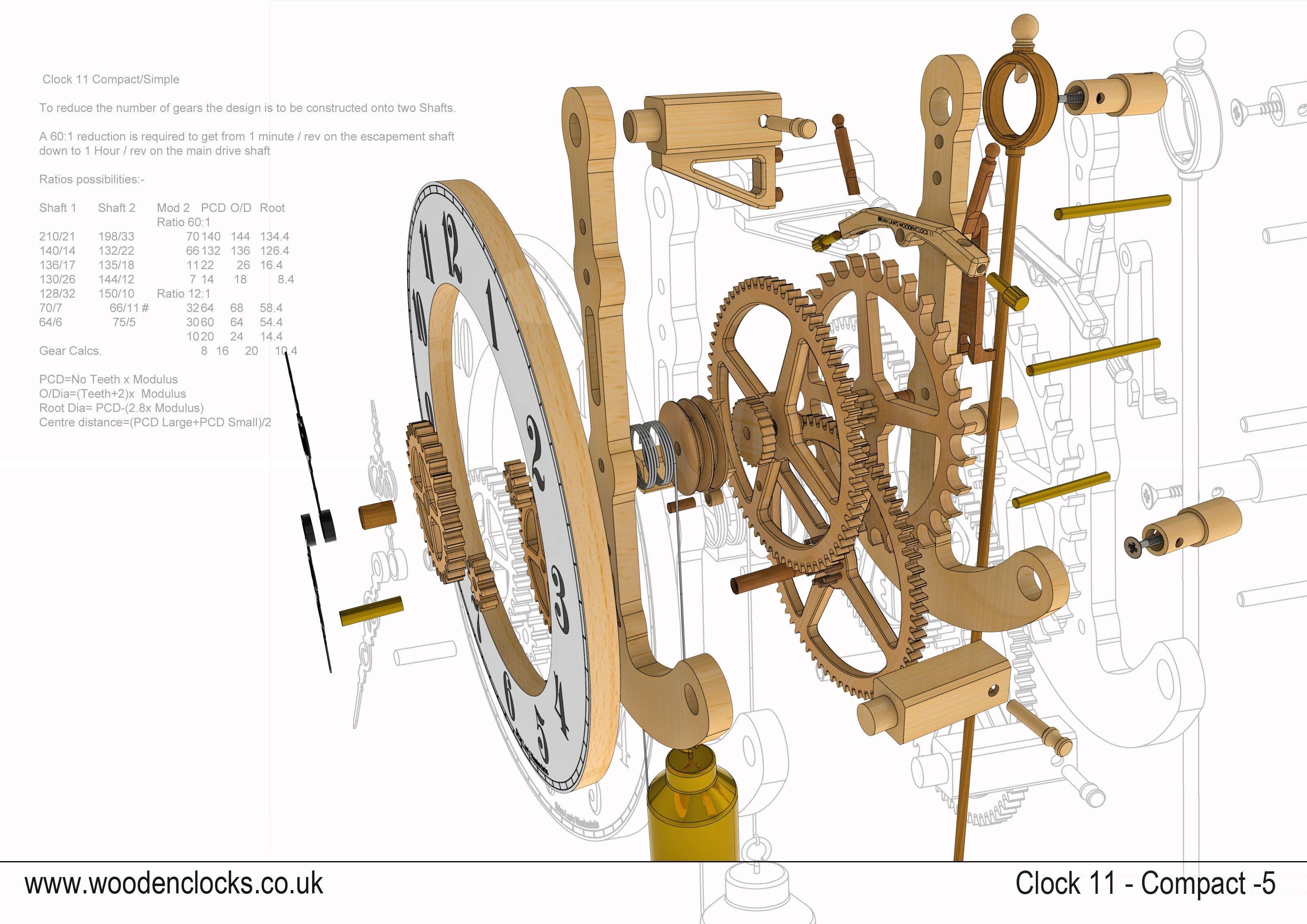 hight resolution of build diy wooden gear clock plans pdf pdf plans wooden free playground plans diy mikel901eg