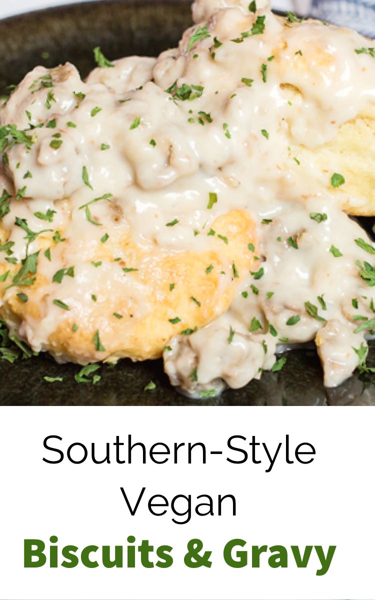 Southern Style Vegan Biscuits And Gravy Wow It S Veggie Recipe In 2020 Vegan Biscuits And Gravy Interesting Food Recipes Easy Gravy Recipe