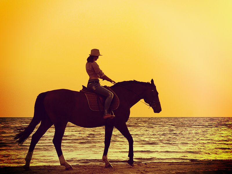 Go horseback riding on the beach.