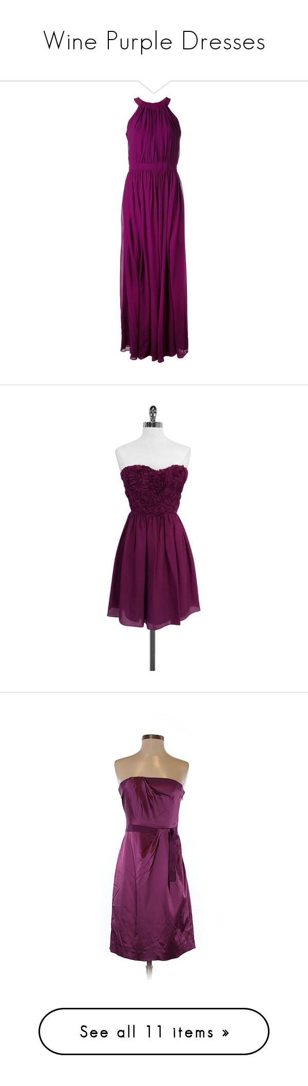 Wine purple dresses