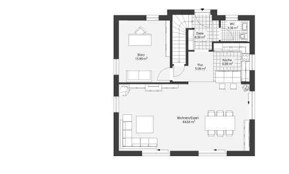 Grundrisse Modern Haustyp Pultdachhaus20.2