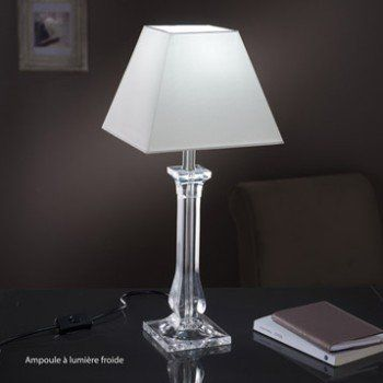 Pied De Lampe Fantasy Acrylique Transparent 39 Cm Lampe