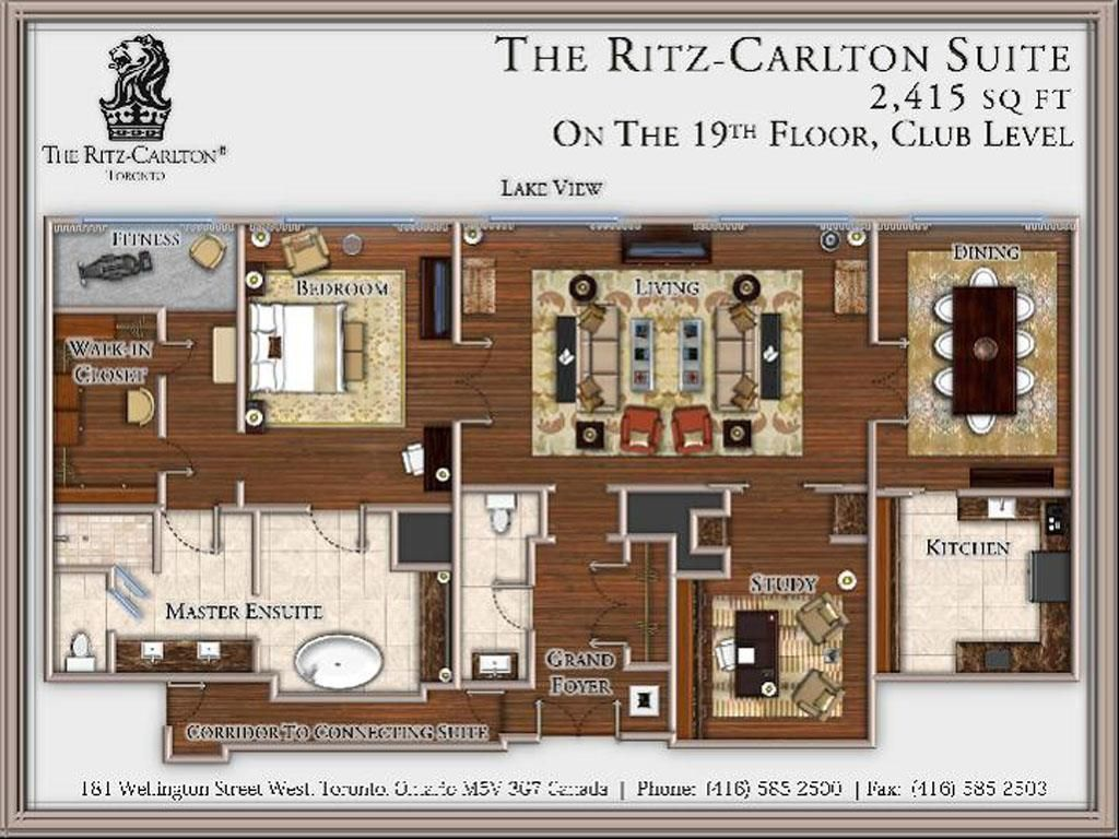 Floor Plan The Ritz Carlton Suite