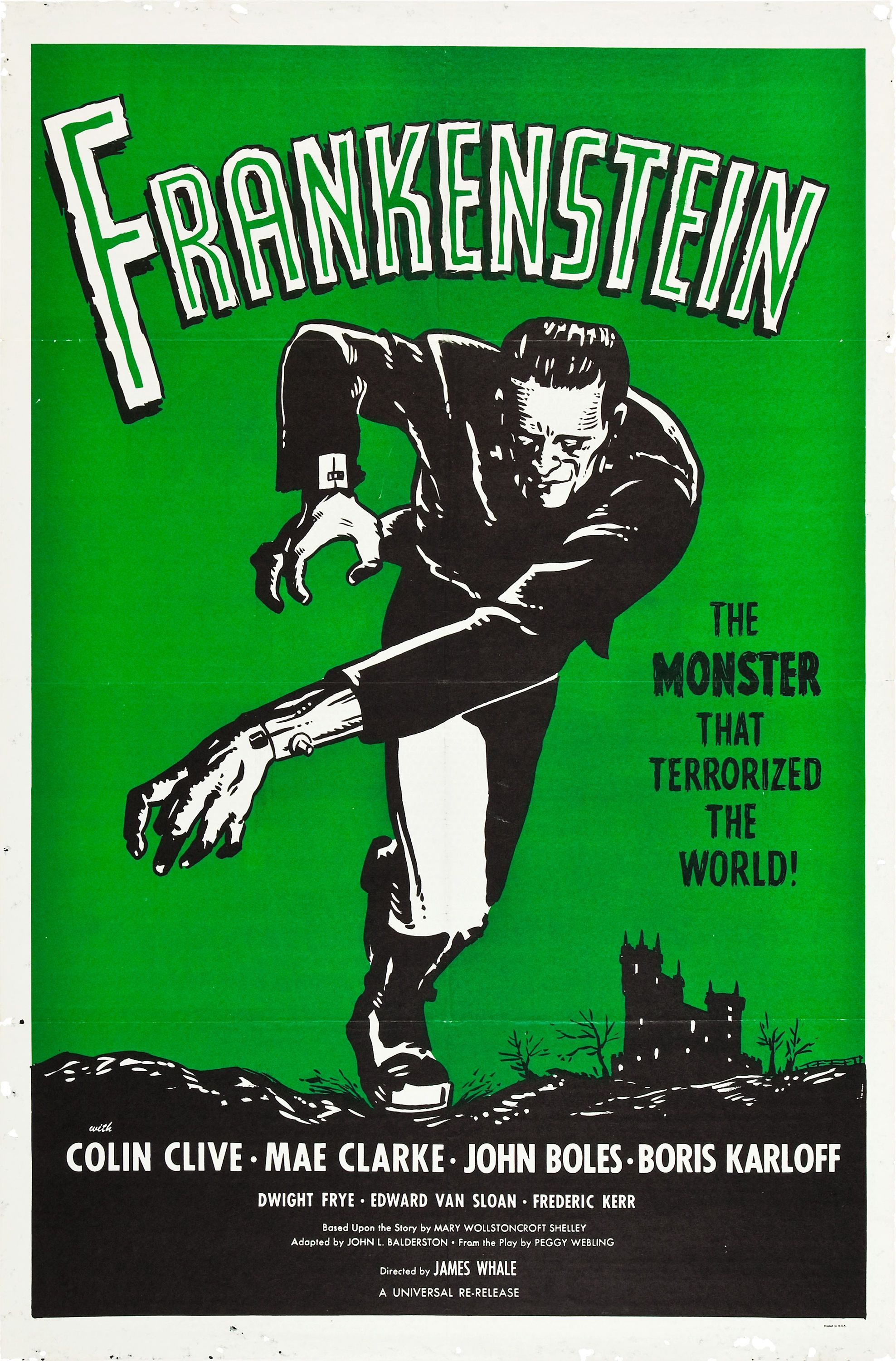 frankenstein vintage horror movie poster 1931 by 1960 universal re acquired the rights to distribute their greatest horror films from