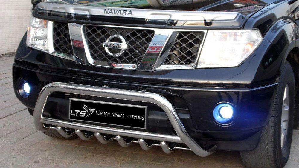Nissan Navara Pathfinder D40 Chrome Axle Nudge ABar